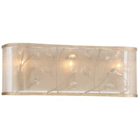 Saras Jewel 3 Light 20 inch Nanti Champaign Silver Bath Bar Wall Light
