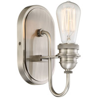 Uptown Edison 1 Light 5 inch Plated Pewter Bath-Bar Lite Wall Light