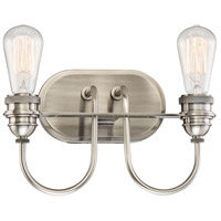Minka-Lavery Uptown Edison 2 Light Bath-Bar Lite in Plated Pewter 3452-84B