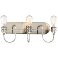 Uptown Edison 3 Light 20 inch Plated Pewter Bath Bar Wall Light