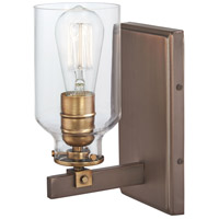 Minka-Lavery 3551-588 Morrow 1 Light 15 inch Harvard Court Bronze with Gold Bath Bar Wall Light