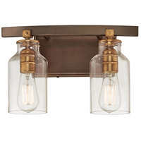 Minka-Lavery 3552-588 Morrow 2 Light 19 inch Harvard Court Bronze with Gold Bath Bar Wall Light
