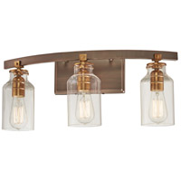 Minka-Lavery 3553-588 Morrow 3 Light 28 inch Harvard Court Bronze with Gold Bath Bar Wall Light