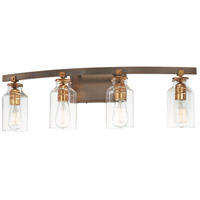 Minka-Lavery 3554-588 Morrow 4 Light 37 inch Harvard Court Bronze/Gold Bath Light Wall Light