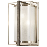 Tysons Gate 3 Light 7 inch Brushed Nickel with Shale Wood Wall Sconce Wall Light