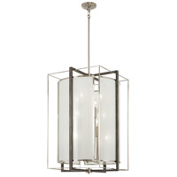 Minka-Lavery 3569-098 Tysons Gate 12 Light 20 inch Brushed Nickel with Shale Wood Pendant Ceiling Light