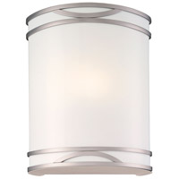 Minka-Lavery Signature 1 Light Sconce in Brushed Nickel 371-PL