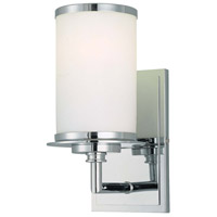 Glass Note 1 Light 5 inch Chrome Bath Wall Light