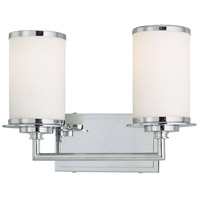 Minka-Lavery 3722-77-PL Glass Note 2 Light 14 inch Chrome Bath Wall Light photo thumbnail