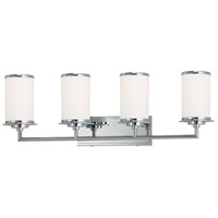 Minka-Lavery Glass Note 4 Light Bath in Chrome 3724-77-PL