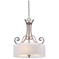 Signature 3 Light 21 inch St. James Gold Pendant Ceiling Light