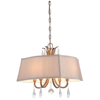 Signature 4 Light 21 inch Vintage Gold Pendant Ceiling Light