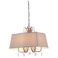 Signature 6 Light 25 inch Vintage Gold Pendant Ceiling Light