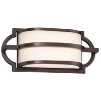 Mission Grove LED 12 inch Dark Brushed Bronze Painted Bath Wall Light
