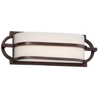 Mission Grove LED 16 inch Dark Brushed Bronze Painted Bath Wall Light