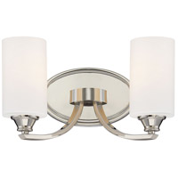 Tilbury 2 Light 14 inch Polished Nickel Bath Bar Wall Light