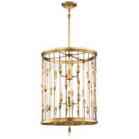 Olivetas 6 Light 18 inch IL Terrace Gold Leaf Pendant Ceiling Light