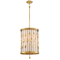 Minka-Lavery 4053-571 Olivetas 3 Light 14 inch Il Terrace Gold Leaf Pendant Ceiling Light
