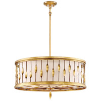 Olivetas 5 Light 26 inch Il Terrace Gold Leaf Pendant Ceiling Light, Convertible
