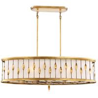 Minka-Lavery 4056-571 Olivetas 6 Light 40 inch Whisper Bronze Island Light Ceiling Light