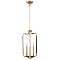 Liege 3 Light 13 inch Aged Kinston Bronze with Brass Highlights Pendant Ceiling Light