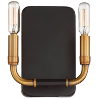 Liege 2 Light 7 inch Aged Kinston Bronze with Brass Highlights Wall Sconce Wall Light