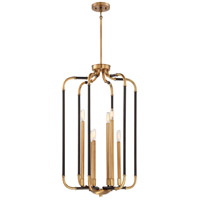 Liege 6 Light 19 inch Aged Kingston Bronze with Brushed Brass Highlights Pendant Ceiling Light