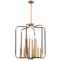 Liege 12 Light 28 inch Aged Kingston Bronze with Brushed Brass Highlights Chandelier Ceiling Light