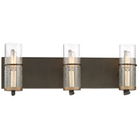 Minka-Lavery 4083-107 Sussex Court 3 Light 19 inch Smoked Iron/Aged Gold Bath-Bar Lite Wall Light