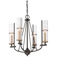 Minka-Lavery 4086-107 Sussex Court 4 Light 20 inch Smoked Iron/Aged Gold Chandelier Ceiling Light