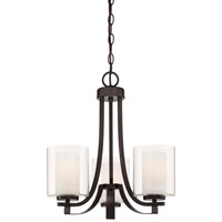 Minka-Lavery Parsons Studio 3 Light Mini Chandelier in Smoked Iron 4103-172