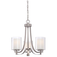 Parsons Studio 3 Light 18 inch Brushed Nickel Mini Chandelier Ceiling Light