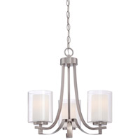 Minka Lavery Parsons Studio 3 Light Mini-Chandelier in Brushed Nickel 4103-84