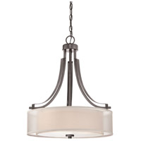Parsons Studio 3 Light 21 inch Smoked Iron Pendant Ceiling Light