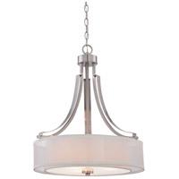 Minka-Lavery 4104-84 Parsons Studio 3 Light 21 inch Brushed Nickel Pendant Ceiling Light