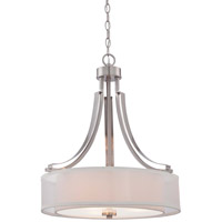 Minka Lavery Parsons Studio 3 Light Pendant in Brushed Nickel 4104-84