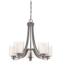 Parsons Studio 5 Light 26 inch Smoked Iron Chandelier Ceiling Light