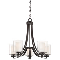 Minka-Lavery Parsons Studio 5 Light Chandelier in Smoked Iron 4105-172