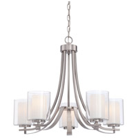 Parsons Studio 5 Light 26 inch Brushed Nickel Chandelier Ceiling Light