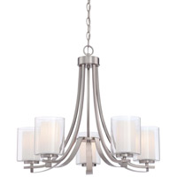 Minka Lavery Parsons Studio 5 Light Chandelier in Brushed Nickel 4105-84