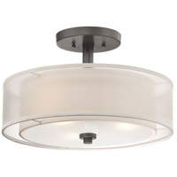 Parsons Studio 3 Light 15 inch Smoked Iron Semi-Flush Mount Ceiling Light