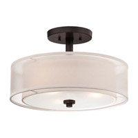 Minka-Lavery Parsons Studio 3 Light Semi-Flush Mount in Smoked Iron 4107-172