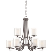 Parsons Studio 9 Light 32 inch Smoked Iron Chandelier Ceiling Light
