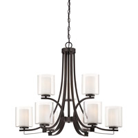 Minka-Lavery Parsons Studio 9 Light Chandelier in Smoked Iron 4109-172