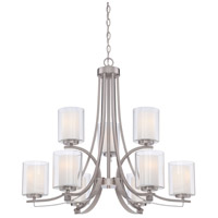 Parsons Studio 9 Light 32 inch Brushed Nickel Chandelier Ceiling Light