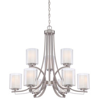 Minka Lavery Parsons Studio 9 Light Chandelier in Brushed Nickel 4109-84