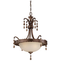 Signature 3 Light 23 inch Rustique Patina Pendant Ceiling Light