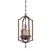Minka-Lavery Candlewood 4 Light Foyer Pendant in Rustique Patina 4124-563