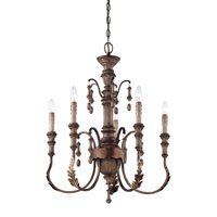 Minka-Lavery Candlewood 5 Light Chandelier in Rustique Patina 4125-563