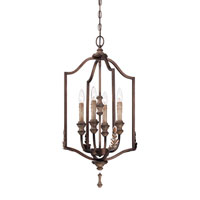 Minka-Lavery Candlewood 4 Light Foyer Pendant in Rustique Patina 4126-563